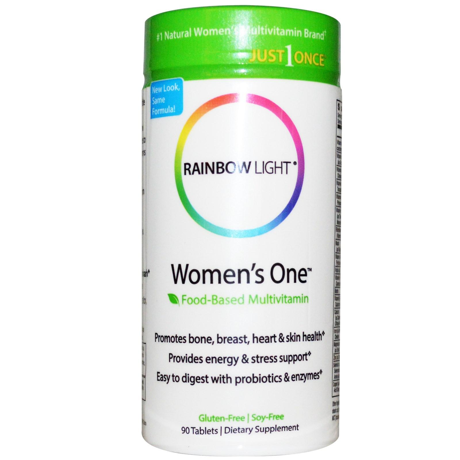 Rainbow Light Just Once Women's One Food-Based Multivitamin 90 Tablets