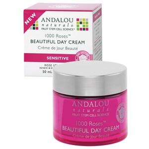Andalou Naturals, 1000 Roses Beautiful Day Cream, Sensitive, 1.7 oz (50 ml)