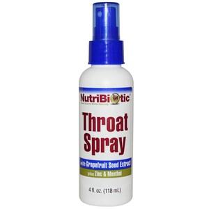 NutriBiotic, Throat Spray, 4 fl oz (118 ml)