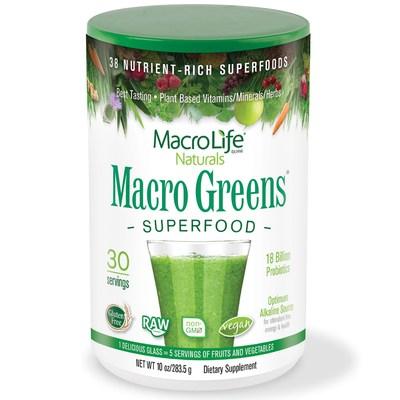 Macrolife Naturals, Macro Greens, Nutrient - Rich Superfoods, 10 oz (283.5 g)