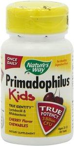 Nature's Way Primadophilus Kids Cherry Flavor Chewables Ages 2-12 30 Tablets