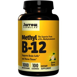 Jarrow Formulas, Methyl B-12, Lemon Flavor, 1000 mcg, 100 Lozenges