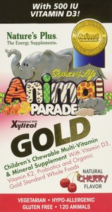 Nature's Plus Source of Life Animal Parade Gold Children's Chewable Multi-Vitamin & Mineral Supple