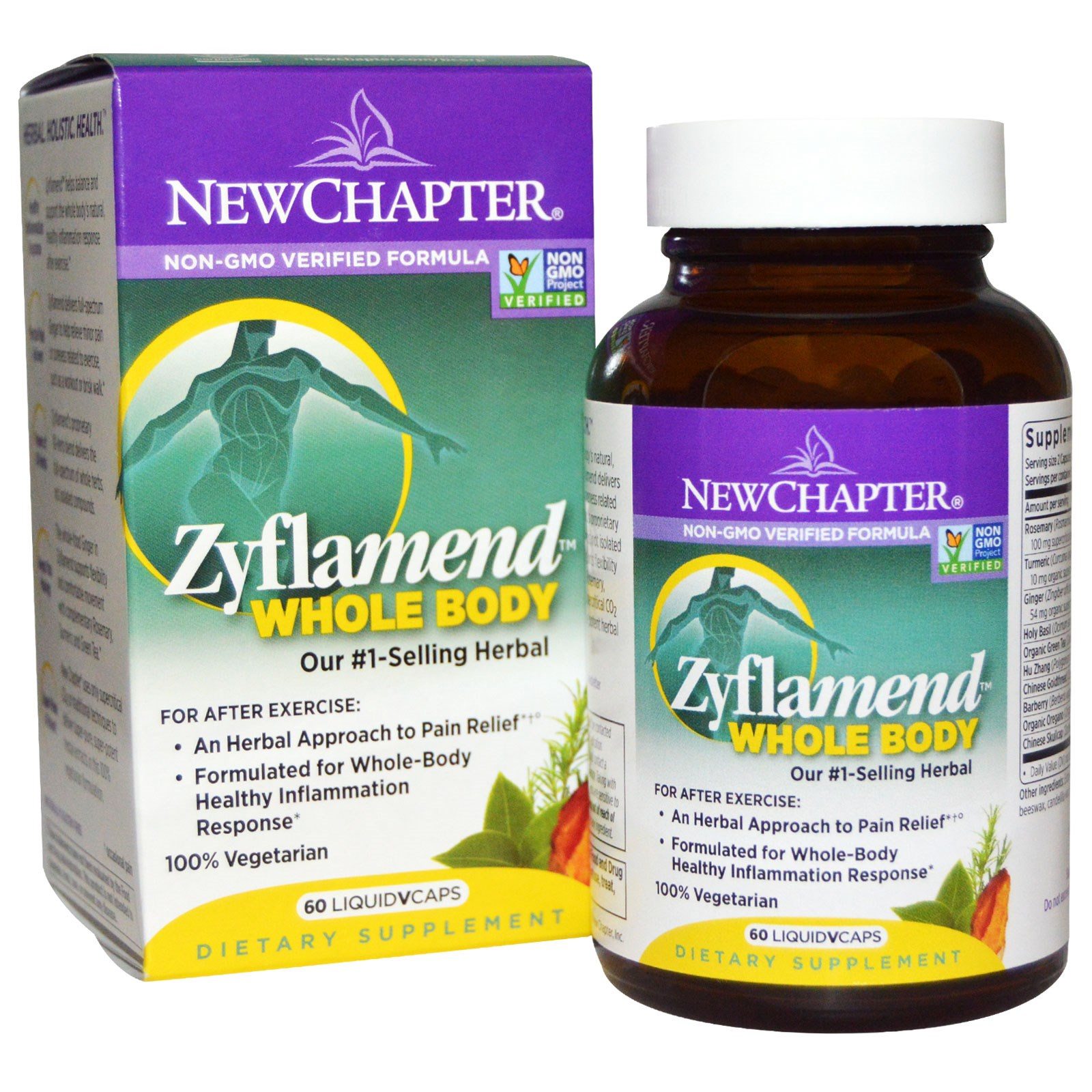 New Chapter, Zyflamend Whole Body, 60 Vegetarian Capsules