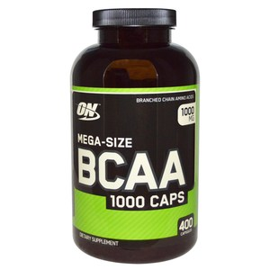 Optimum Nutrition BCAA 1000 Caps Mega-Size 1000 mg 400 Capsules