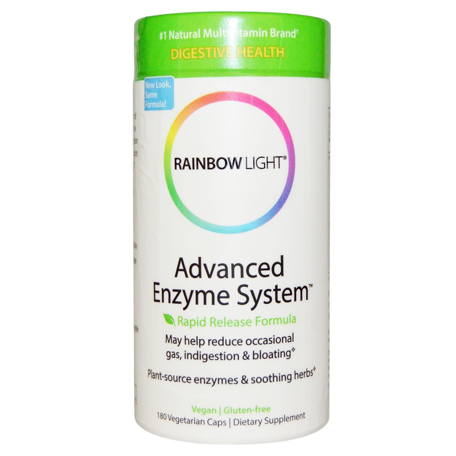 Rainbow Light Advanced Enzyme System Rapid Release Formula 180 Veggie Caps