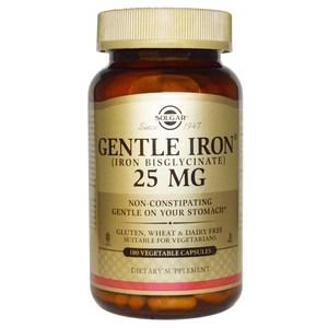 Solgar Gentle Iron 25 mg 180 Veggie Caps
