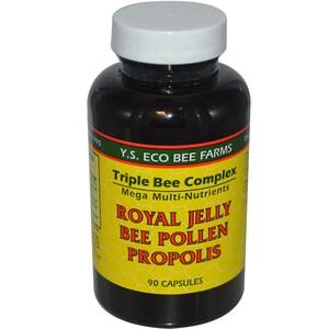 Y.S. Eco Bee Farms Royal Jelly Bee Pollen Propolis 90 Capsules