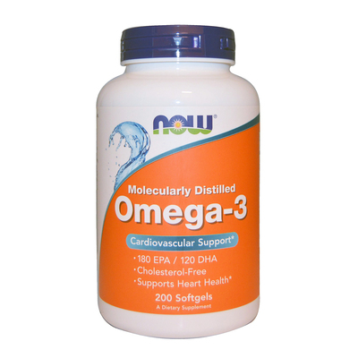 Now Foods  Omega-3  Cardiovascular Support  200 Softgels